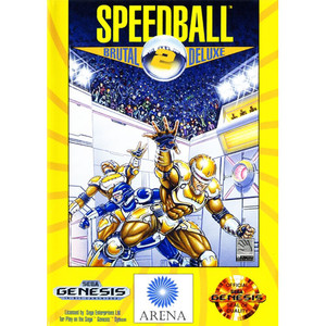 Complete Speedball 2 Brutal Deluxe Video Game for Sega Genesis
