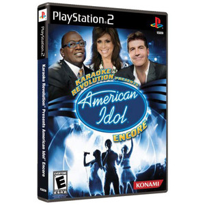 Karaoke Revolution Presents American Idol Encore Video Game for Sony PlayStation 2