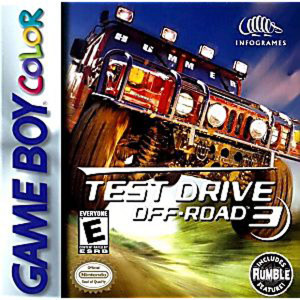 Test Drive Off-Road 3 Video Game For Nintendo GameBoy Color