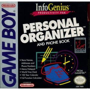 Personal Organizer Video Game For Nintendo GameBoy