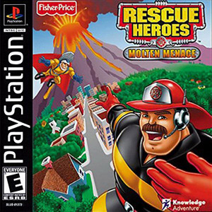 Rescue Heroes Molten Menace Video Game For Sony PS1