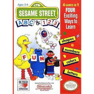 Sesame ABC & 123 Complete Game For Nintendo NES