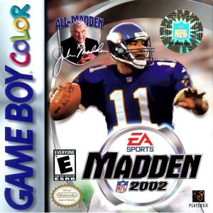 Complete Madden 2002 Complete Game For Nintendo GameBoy Color