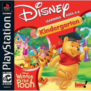 Winnie the Pooh Kindergarten Video Game For Sony PS1