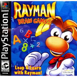 Rayman Brain Games Video Game For Sony PS1