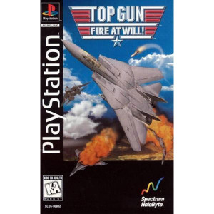 Top Gun Fire at Will Video Game For Sony PS1
