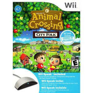 Complete Animal Crossing City Folk w/ Wii Speak Bundle Video Game For Nintendo Wii