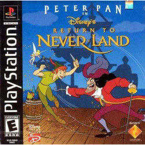 Peter Pan in Return to Neverland Video Game For Sony PS1