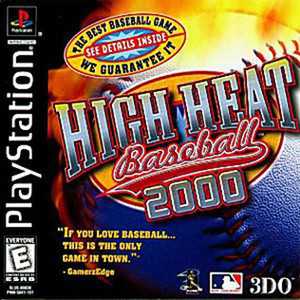 High Heat Baseball 2000 Video Game For Sony PS1