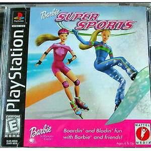 Barbie Super Sports Video Game For Sony PS1