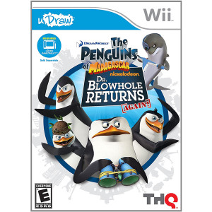 uDraw Penguins of Madagascar Dr. Blowhole Returns Again Video Game For Nintendo Wii