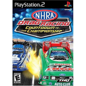 NHRA Dragon Racing Countdown to Championship Video Game For Sony PS2