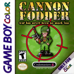 Cannon Fodder Video Game For Nintendo GBC