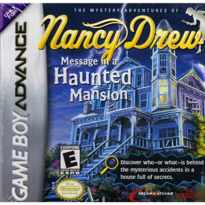 Nancy Drew Message in a Haunted Mansion Video Game For Nintendo GBA