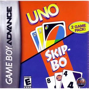 Uno Skip-Bo Video Game For Nintendo GBA