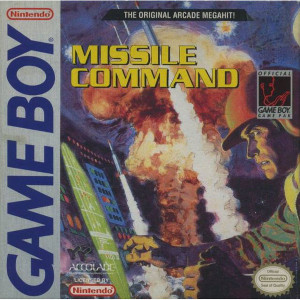 Missile Command Video Game For Nintendo GameBoy