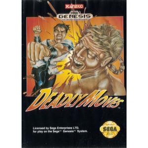 Deadly Moves Complete Game For Sega Genesis