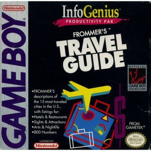 Info Genius Frommer's Travel Guide Video Game For Nintendo GameBoy