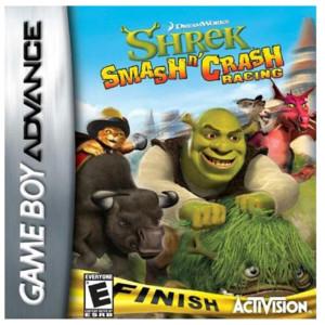 Shrek Smash N' Crash Racing Video Game For Nintendo GBA