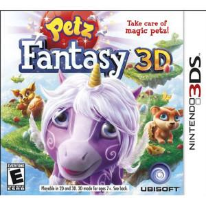 Petz Fantasy 3D Video Game For Nintendo 3DS