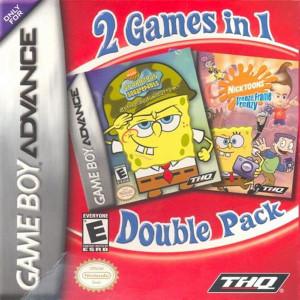 Nicktoons Freeze Frame Frenzy and Spongebob Battle For Bikini Bottom Video Game For Nintendo GBA