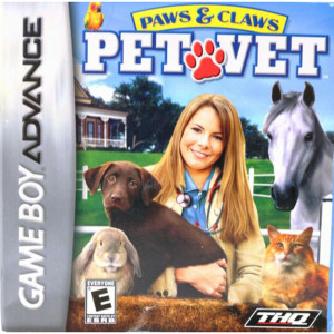 Paws & Claws Pet Vet Video Game For Nintendo GBA