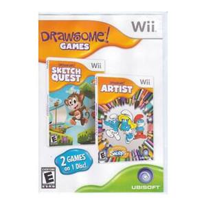 Drawsome Artist and Drawsome Sketch Quest Video Game For Nintendo Wii