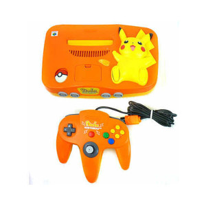 Pokemon Pikachu Orange/Yellow N64 System Pak