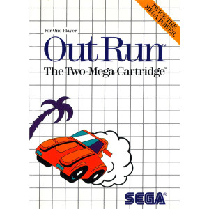 Out Run Video Game For Sega Master System