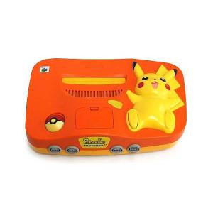Pokemon Pikachu Orange/Yellow N64 Console Only