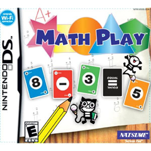 Math Play Video Game For Nintendo DS