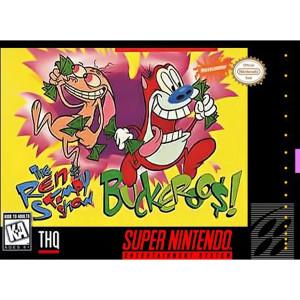 Ren & Stimpy Buckaroos Video Game For Nintendo SNES