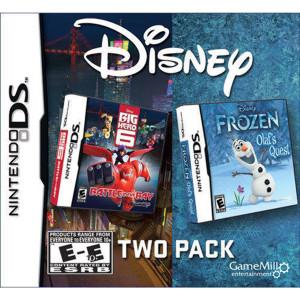 Frozen Olaf's Quest / Big Hero 6 Video Game For Nintendo DS