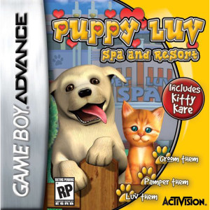 Puppy Luv Spa and Resort Video Game For Nintendo GBA