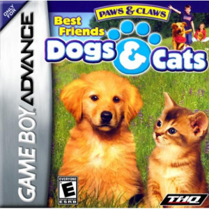 Paws & Claws Best Friends Dogs & Cats Video Game For Nintendo GBA