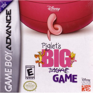 Piglet's Big Game Video Game For Nintendo GBA