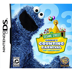Sesame Street Cookie's Counting Carnival Video Game For Nintendo DS