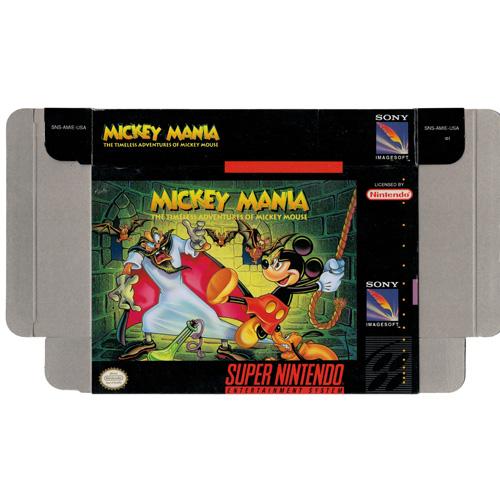 Mickey Mania - Empty SNES Box