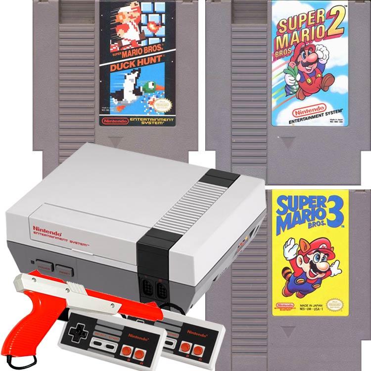 original nintendo nes system console mario 123 gun bundle for sale