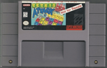 Not For Resale Tetris Attack - SNES Game