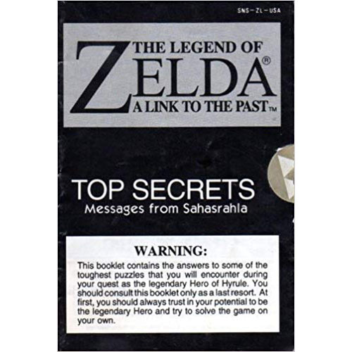 Legend of Zelda Link To the Past Top Secrets - SNES Manual