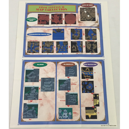 Final Fantasy II Map SNES For Sale   DKOldies