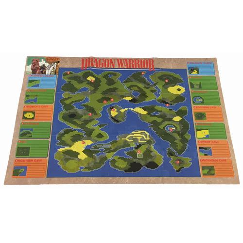Dragon Warrior World Mapmonster Chart Nes For Sale Dkoldies