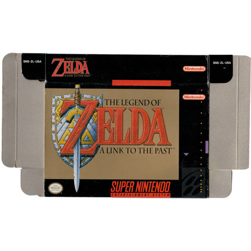 Legend of Zelda A Link To the Past - Empty SNES Box