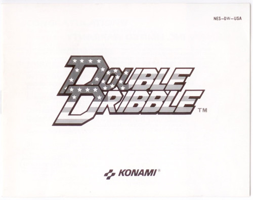 Manual Double Dribble Basketball Nintendo NES Instructions