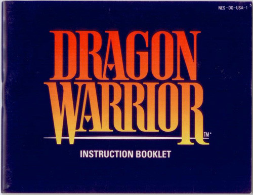 Manual Dragon Warrior Nintendo Nes Instructions For Sale Dkoldies
