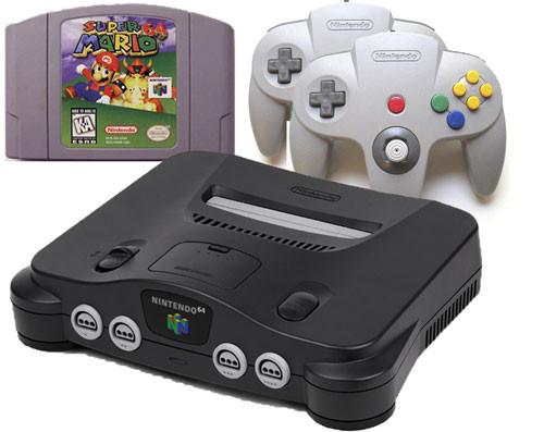 Original nintendo 64 system console super mario n64 bundle pak sale - Super nintendo 64 console ...