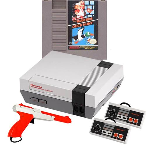 Nes System W Mario Zapper Bundle Original Nintendo Console