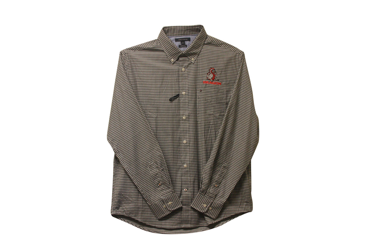 Black Checkered, Long Sleeve Button Down Shirt
