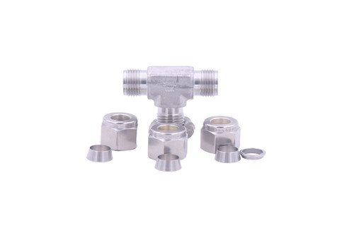 "3/8"" TB X 3/8"" TB X 3/8"", TB Union Tee, Swagelock Fitting"